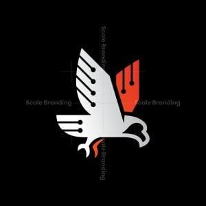 Technology Eagle Logo Cyber Eagle Logo