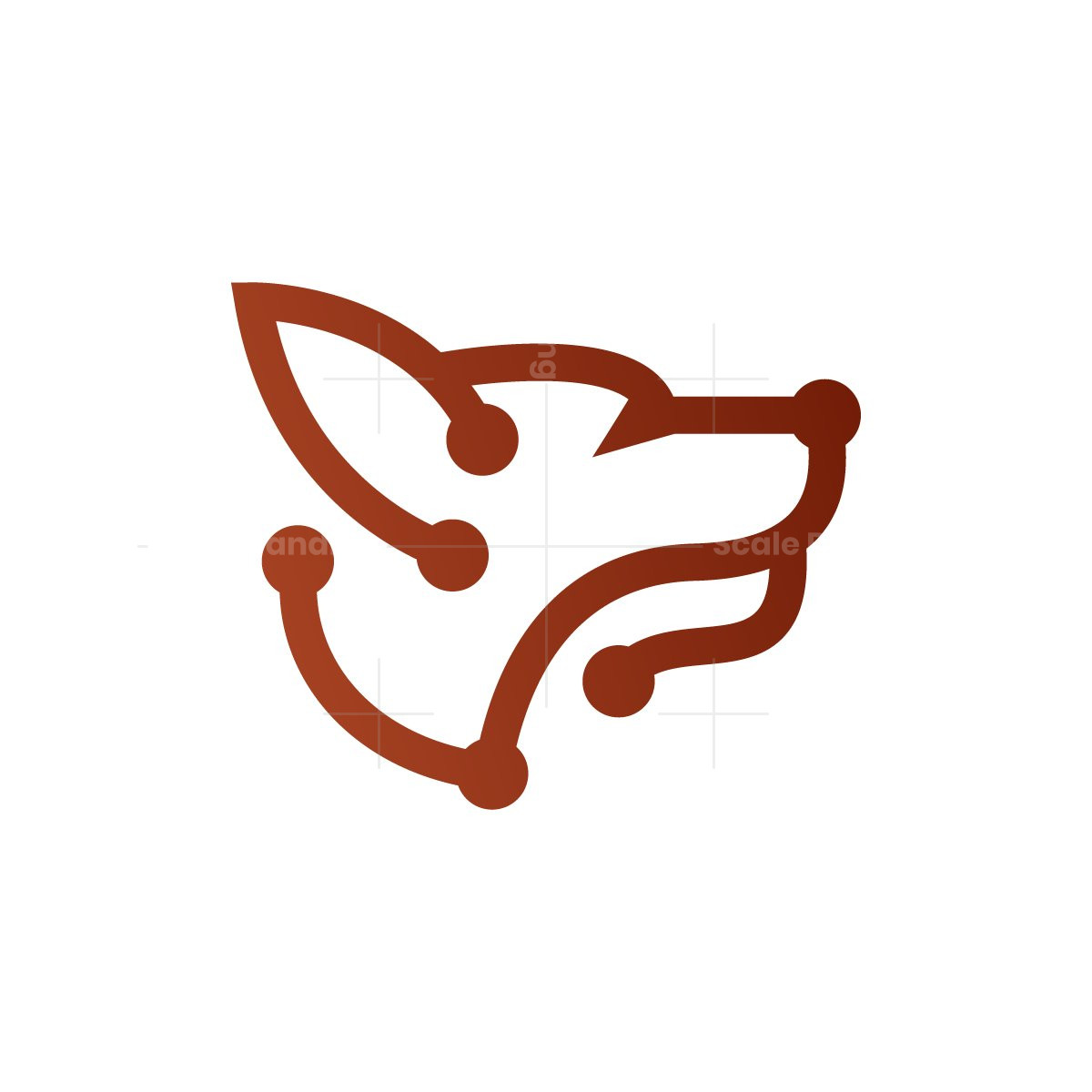 Cyber Technology Wolf Logo