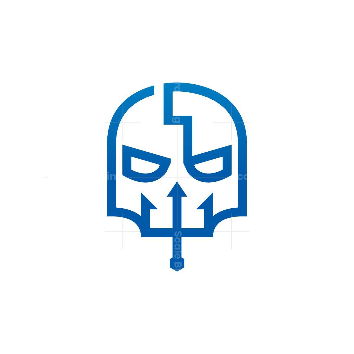 Neptune Trident Skull Logo