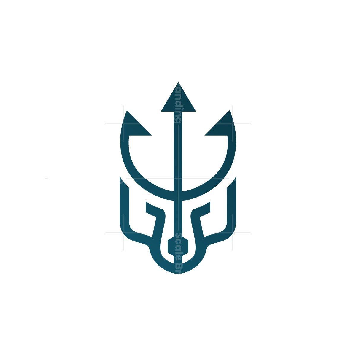 Trident Poseidon Wolf Logo