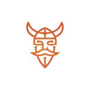 Technology Viking Head Logo