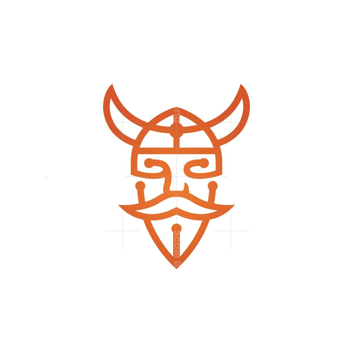 Technology Viking Head Logo