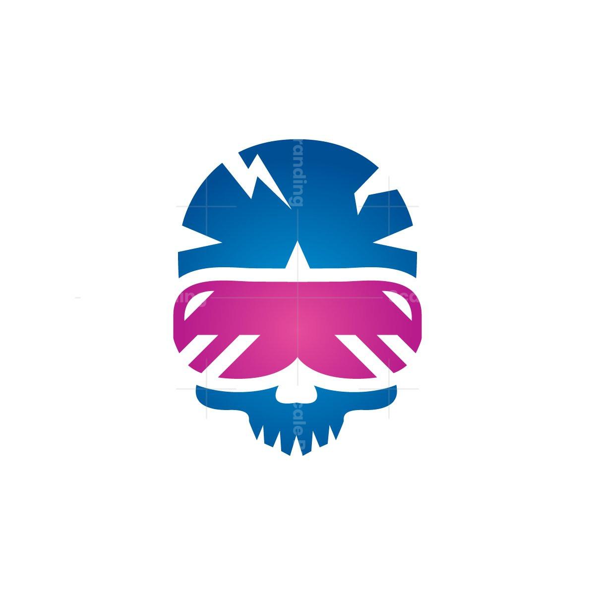Virtual Reality Skull Logo