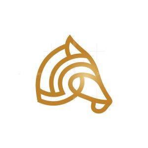 Golden Horse Head Logo