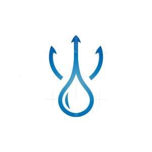 Water Aqua Trident Logo
