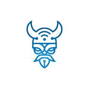 Wifi Technology Viking Logo