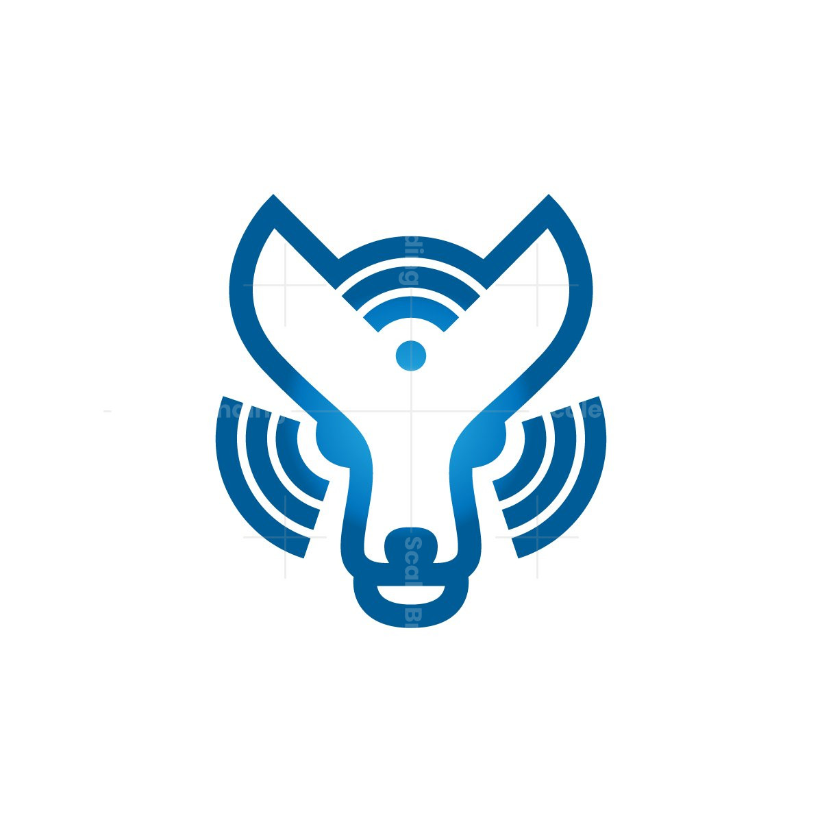Technology Wolf Logo