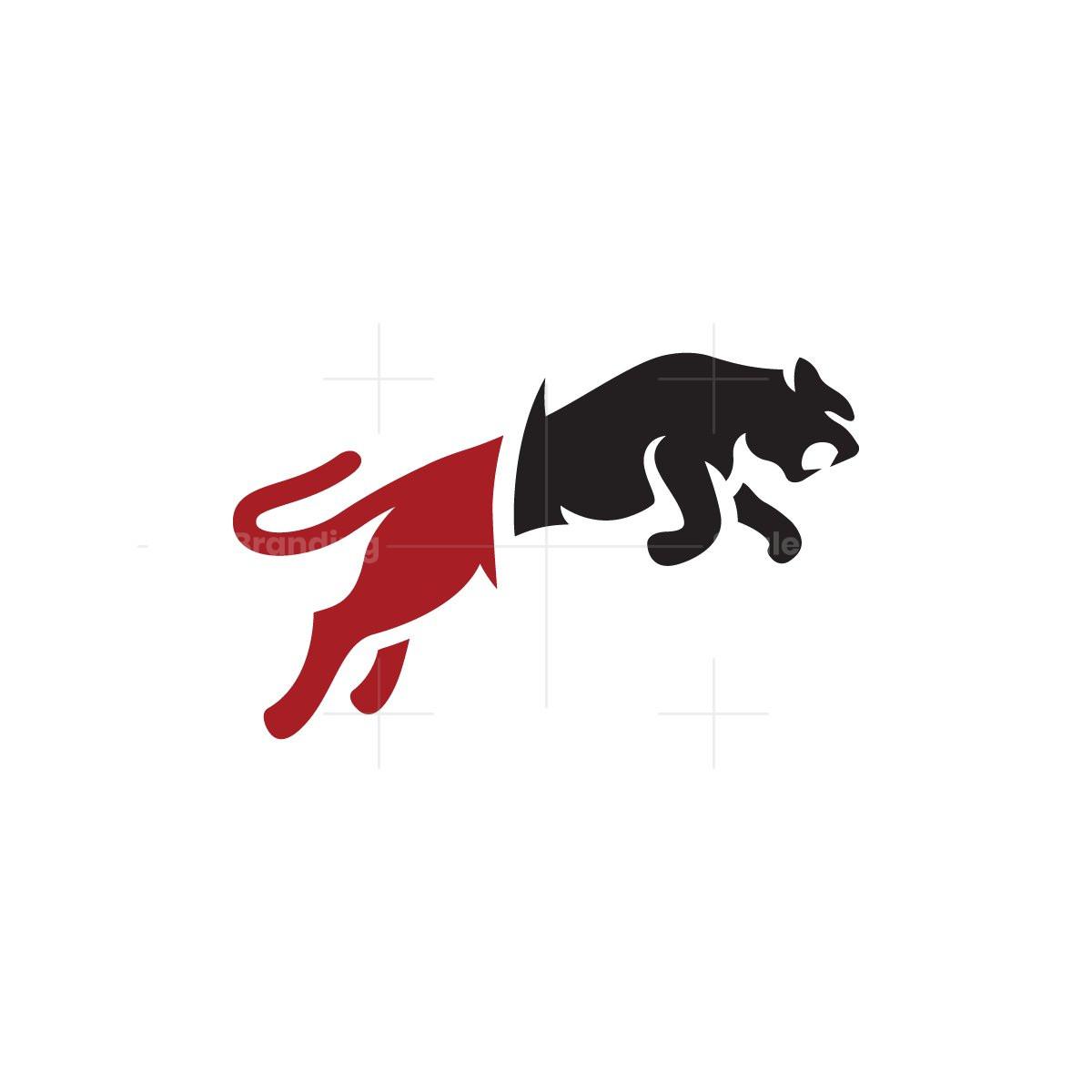 Red Black Panther Logo