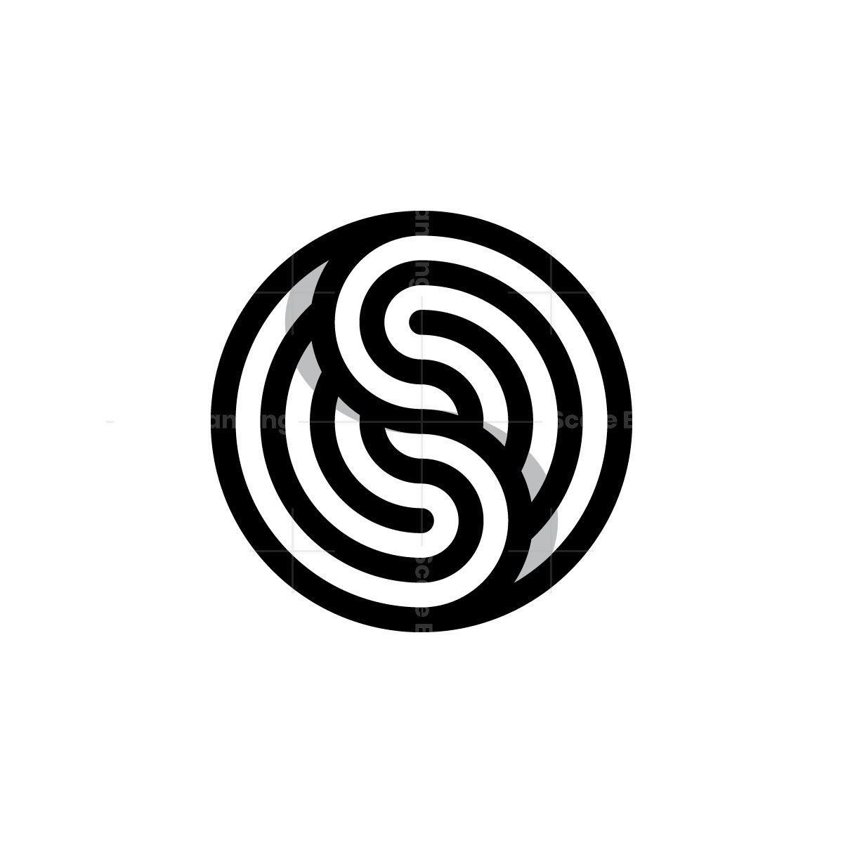 Yin Yang Stripes Logo
