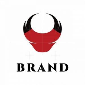 Abstract Bull Letter V Logo
