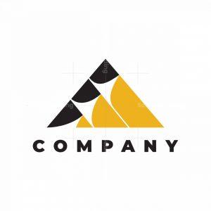 Abstract Mountain Pencil Logo