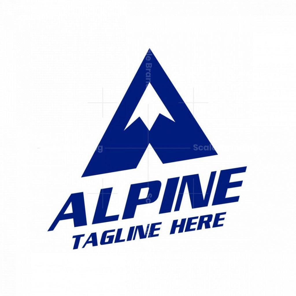 Alpine A Letter Logo
