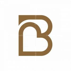 Letter B Love Logo
