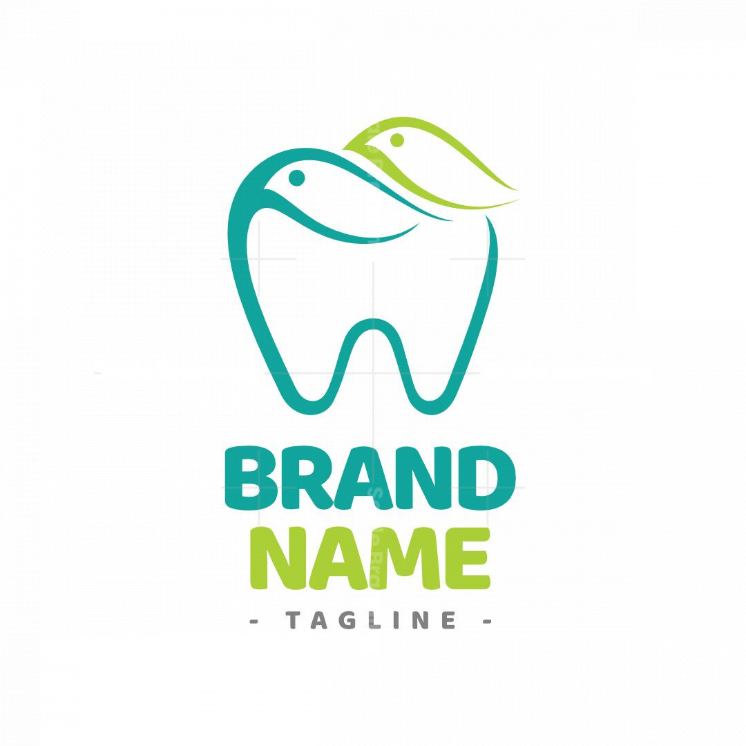 Eco-friendly Bird Tooth Logo
