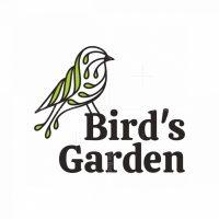Abstract Bird Leaf Logo