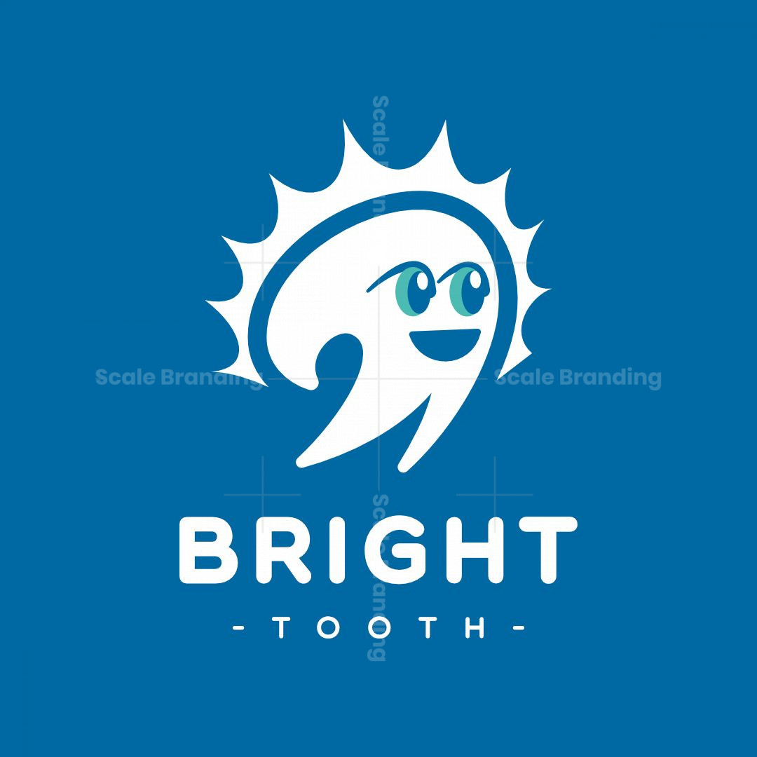 Bright Happy Tooth Logo