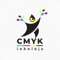 Cmyk Ink Ninja Logo