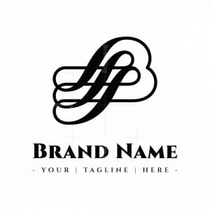 Calligraphy Style Letter B Logo