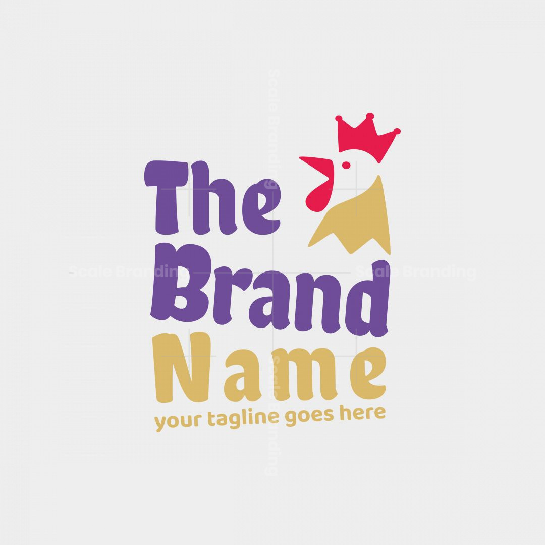 Chicken Logo With Crown