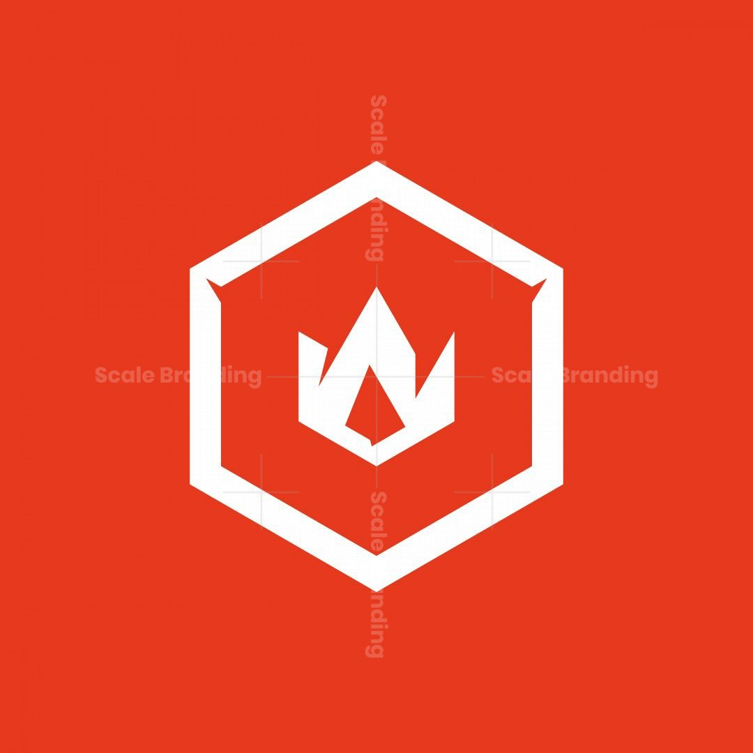 Cube Of Fire Symbol Logo
