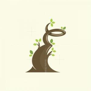 Letter E Tree Logo