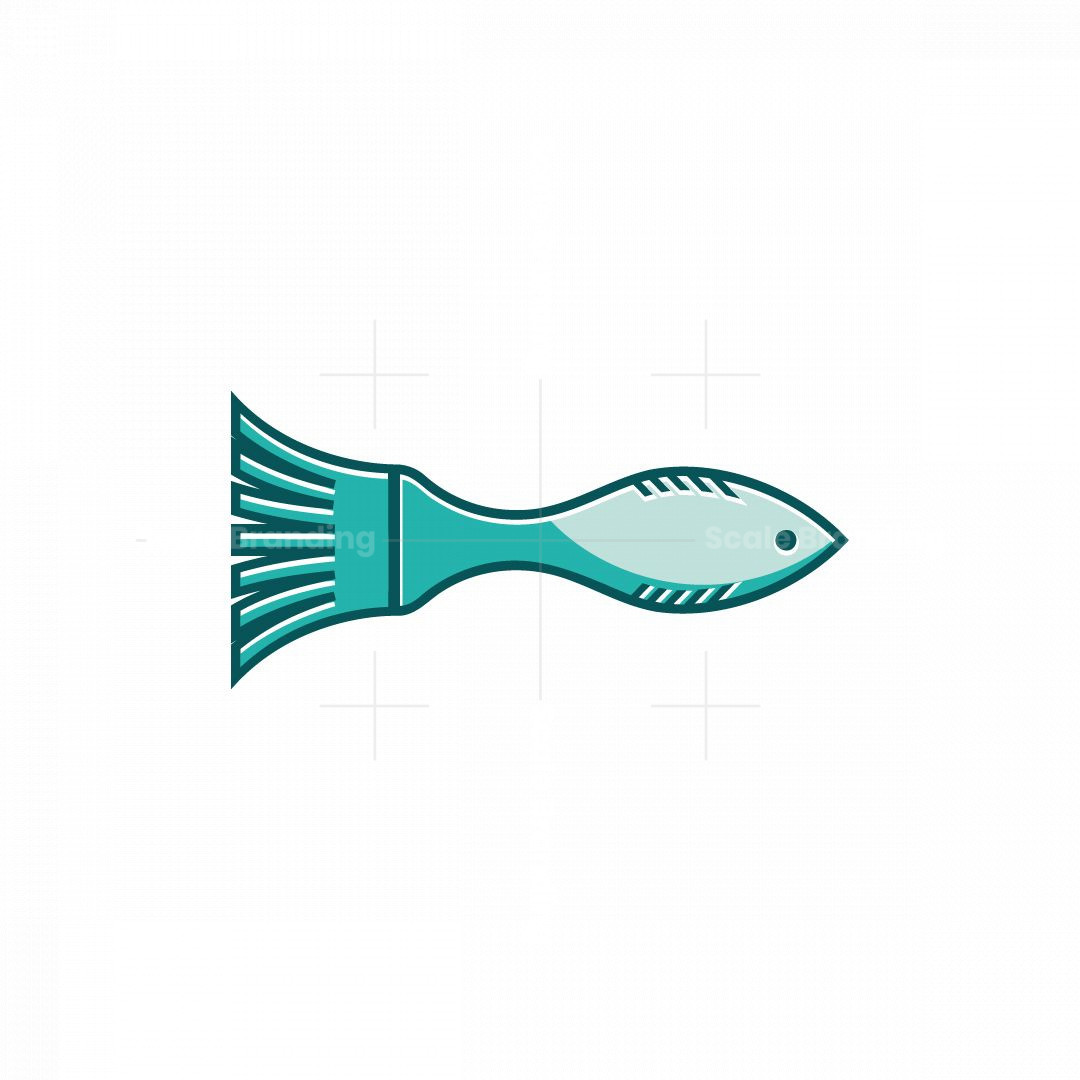 Fish Paint Logo