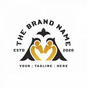 Flourish Golden Letter M Horse Logo