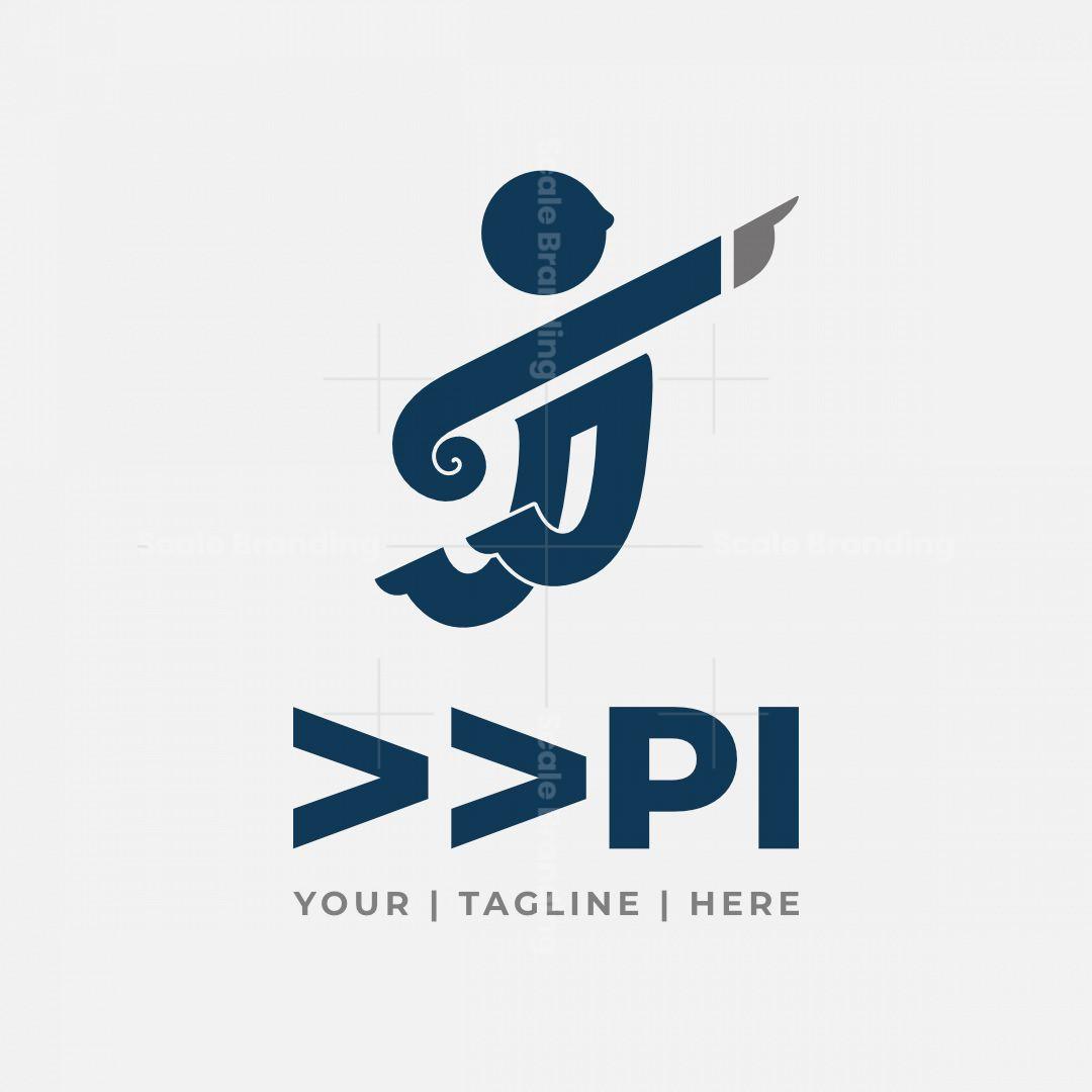 Abstract Human Forward Pi Logo