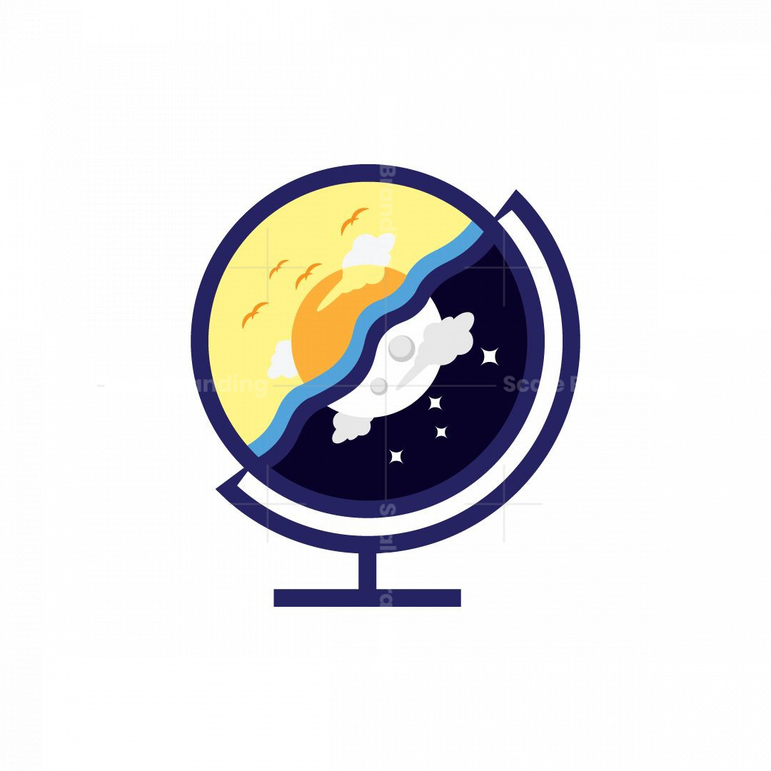 Globe Day And Night Logo
