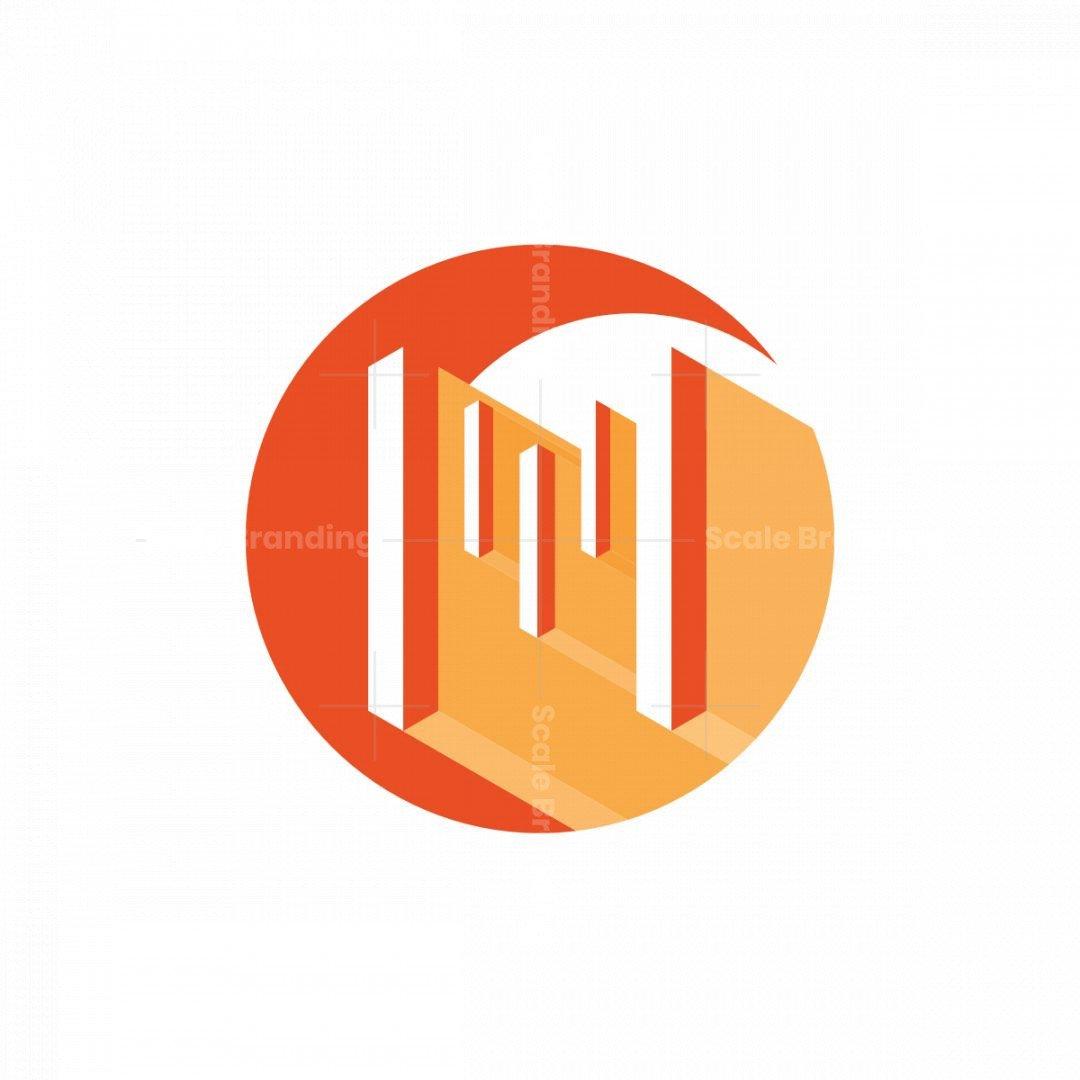 Geometric Letter M Logo