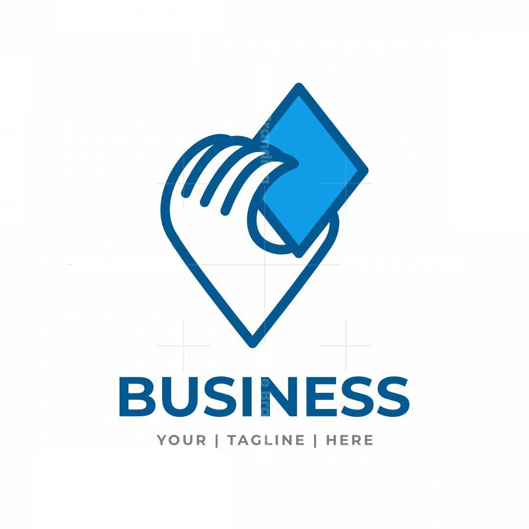 Hand Letter V Tech Logo