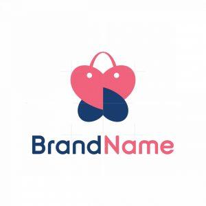 Heart Butterfly Shopping Logo