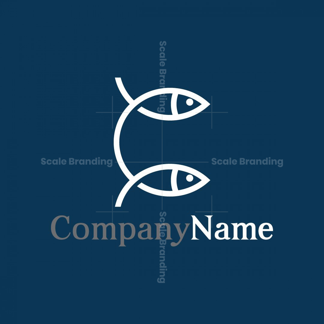 Letter C Fish Logo