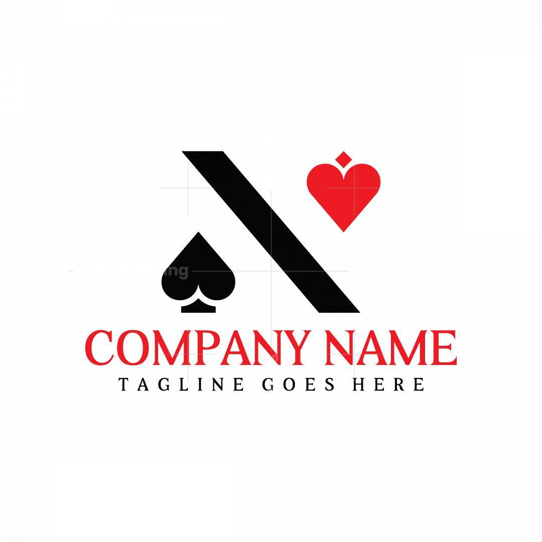 Abstract Letter N Poker Logo