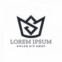 Letter S Crown Logo