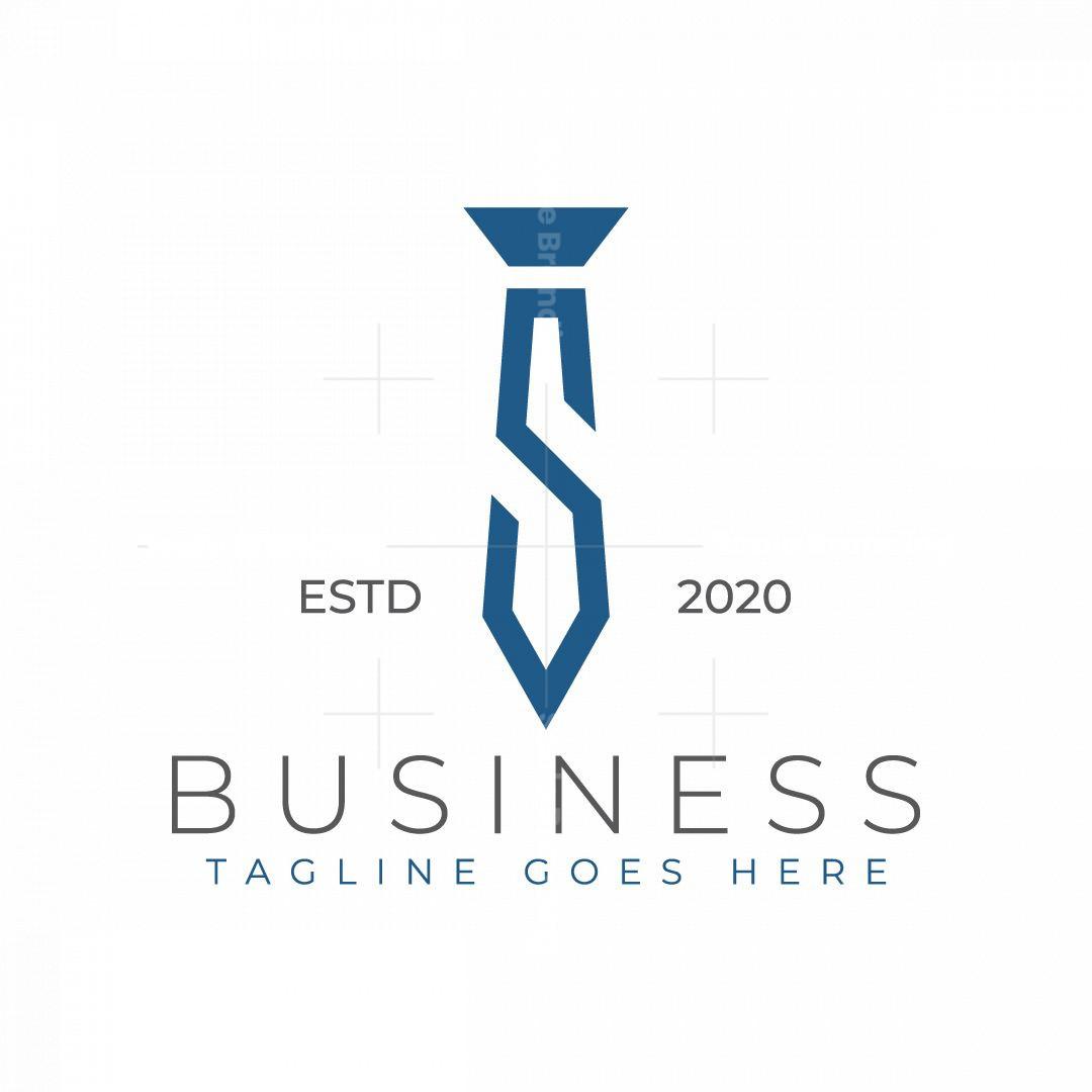 Modern Letter S Tie Logo