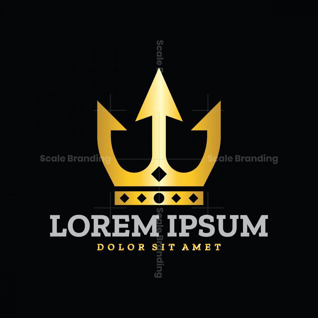 Modern Trident Crown Logo