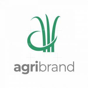 Letter A Grass Logo