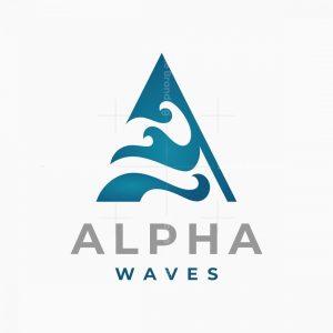 Letter A Waves Logo