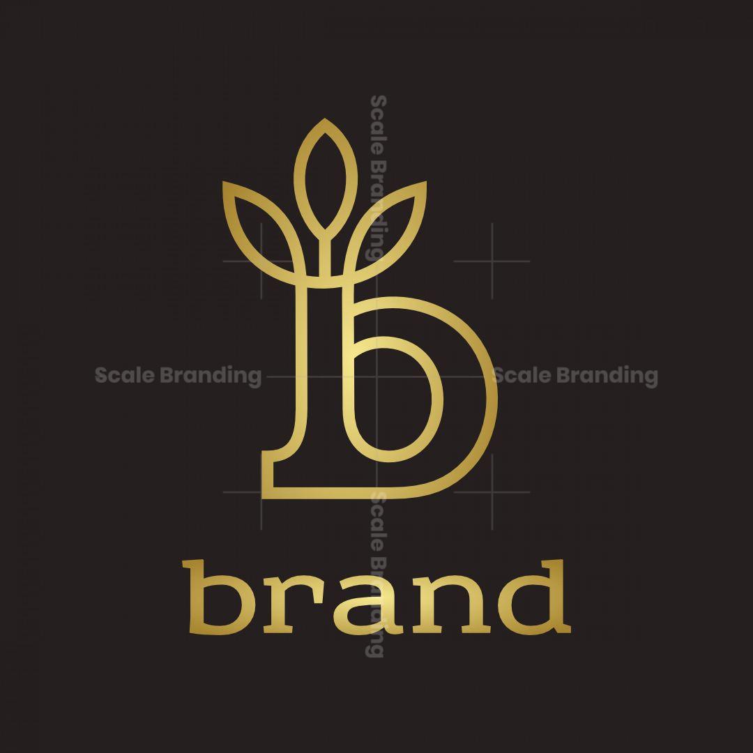 Letter B D P With Leaf Crown Logo