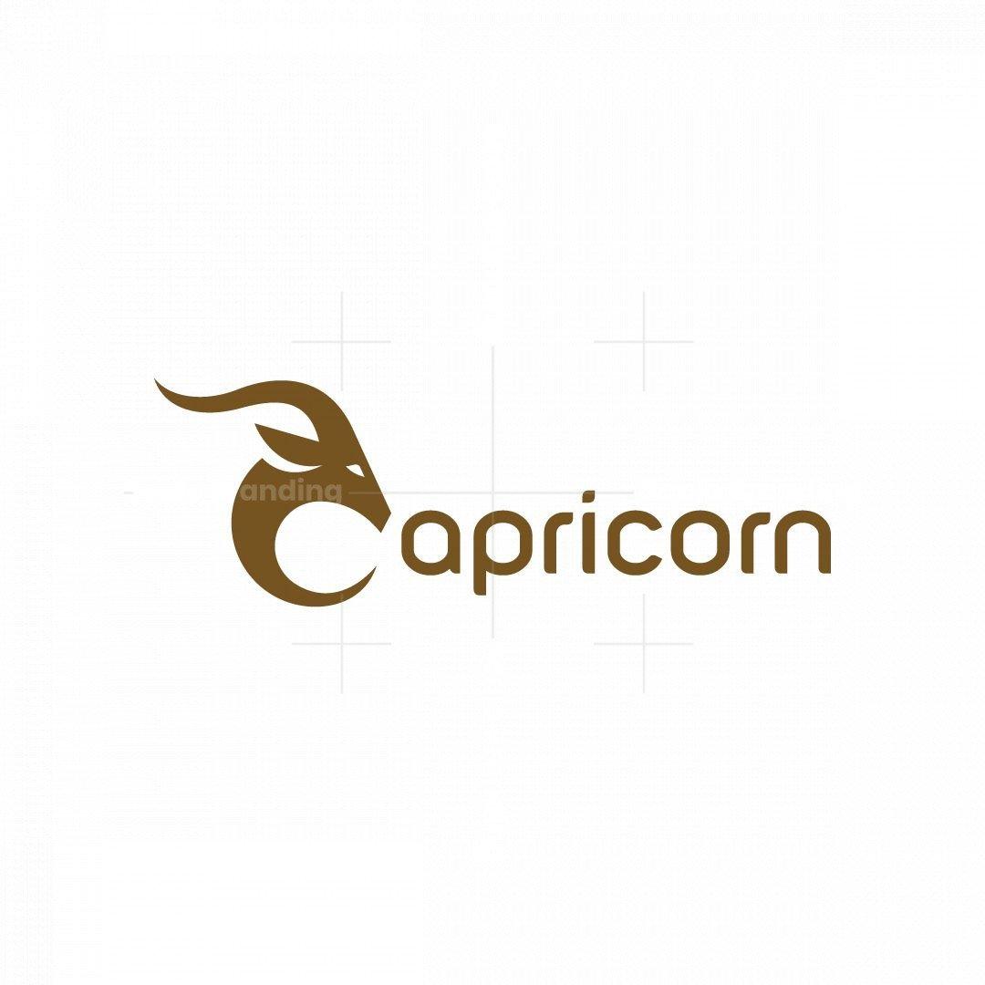 Letter C Capricorn Logo