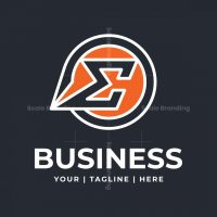 Letter E Sigma Logo