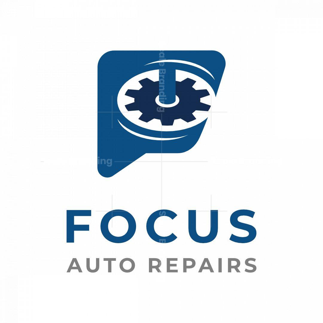 Letter F Gears Logo