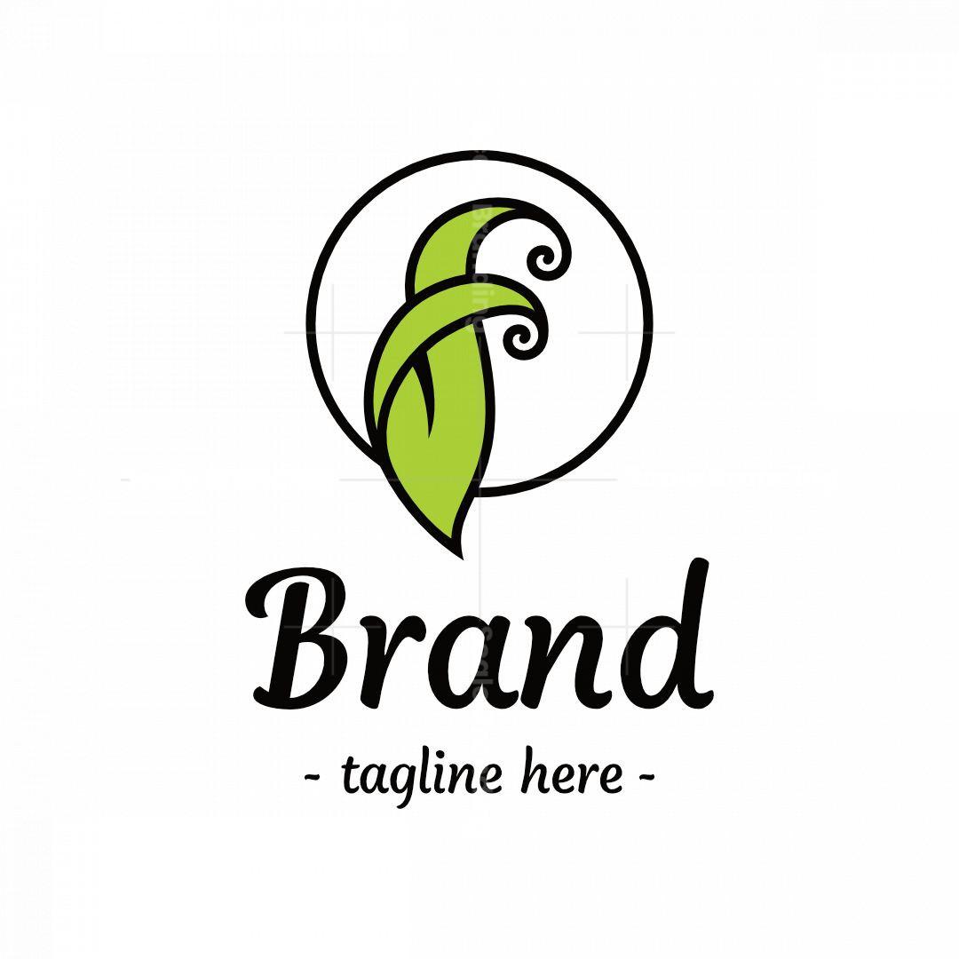 Letter F Leaf Logo