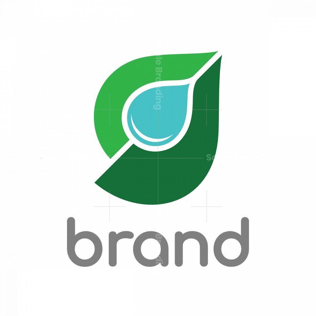 Letter G Leaf Droplet Logo