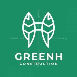 Letter H Leaf Logo