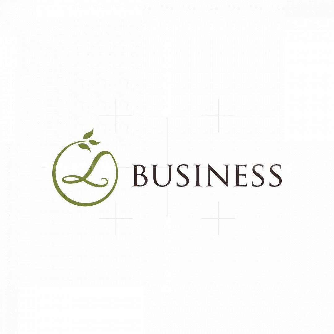 Letter L Leaf Logo