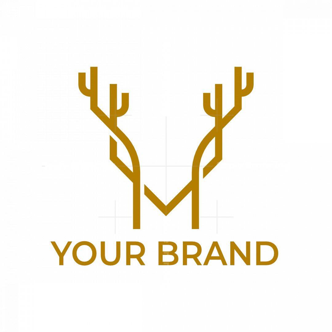 Letter M Deer Logo