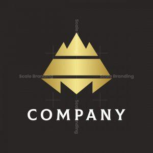 Letter M Mountain Logo