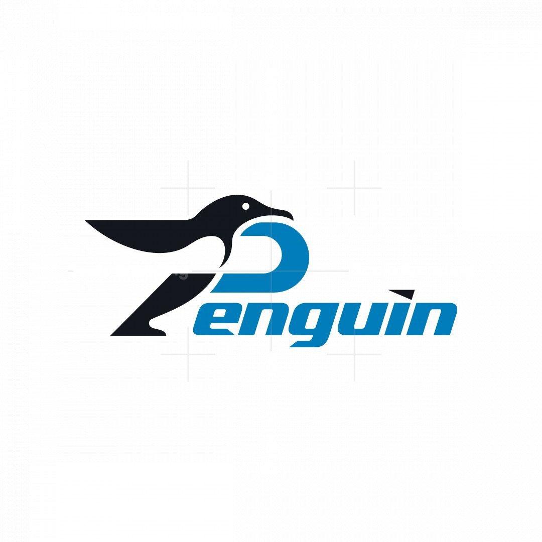 Letter P Penguin Logo